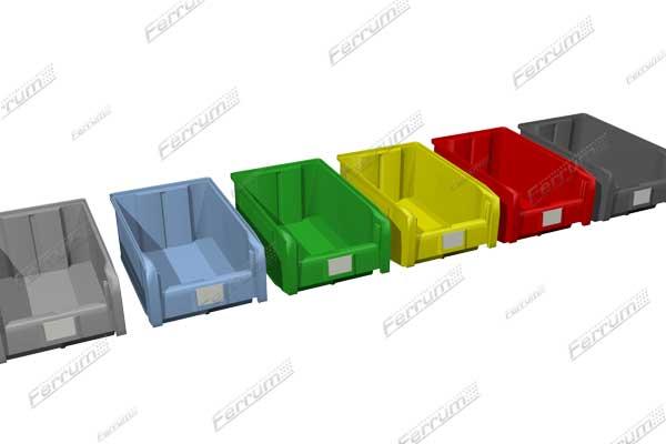 Ящики пластиковые для склада объем 20 л.